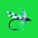 Hook:Varivas size 16, Body: Black thread, Wings:Grizzle Hackle Points, Hackle: Grizzle Cock